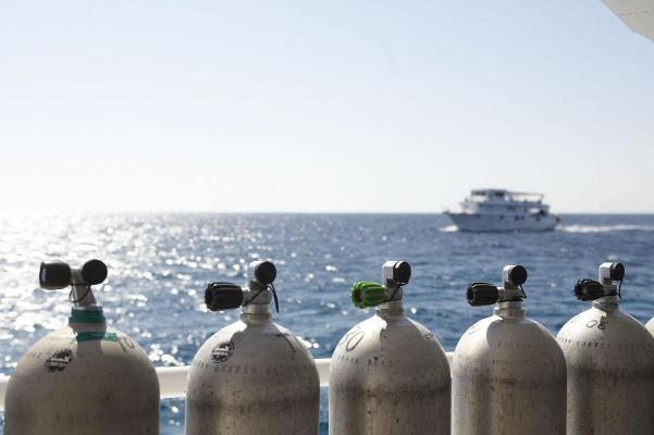 Tauchboot, bei El Gouna, Rotes Meer, Aegypten