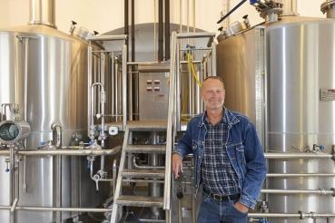 Peter Hansted, Direktor Brauerei Rise Bryggeri, Insel Aeroe