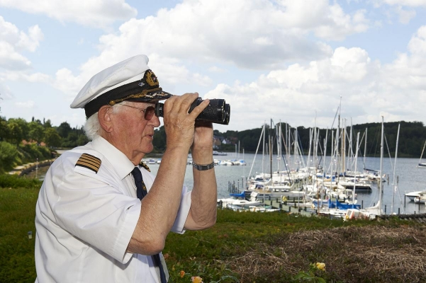 Hafenmeister Soeren Nielsen, Insel Tasinge, Yachthafen Troense