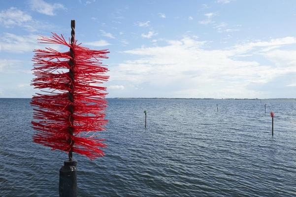 Insel Birkholm, Hafeneinfahrt/Fahrwasser Hafen von Birkholm