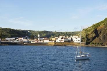 Bucht Porto Pim, Horta, Insel Faial, Azoren, Portugal