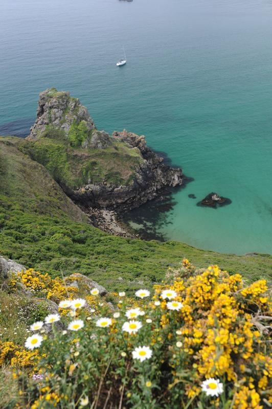 Petit Port, Moulin Huet Bay, Suedkueste Insel Guernsey, Kanalinseln, Grossbritannien