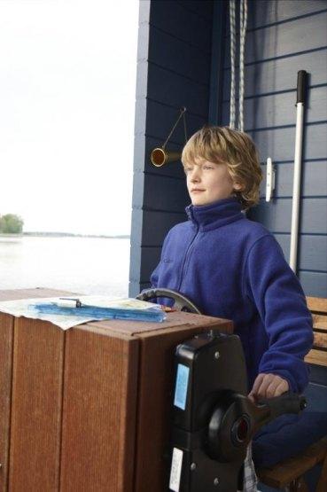 Bungalow Boot, Plauer See, Brandenburg, Deutschland