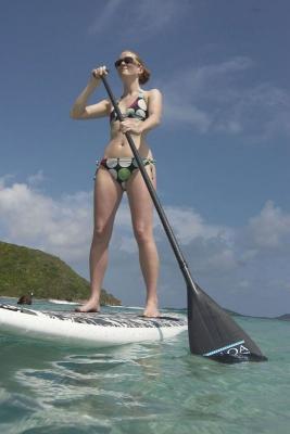 Stand up paddeling, Savannah Bay, Virgin Gorda, British Virgin Islands