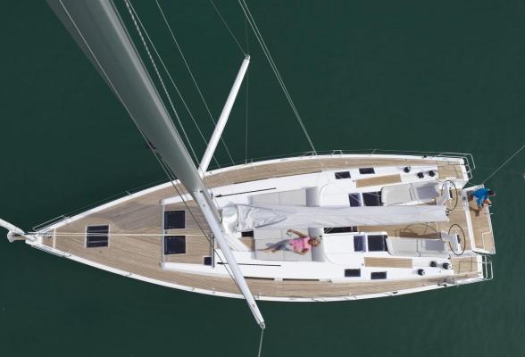 Segelyacht Hanse 505, Werft: Hanseyachts AG, Shooting: Mittelmeer bei Barcelona