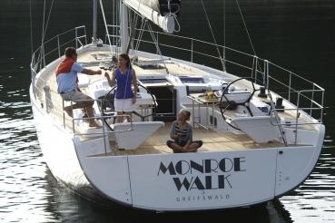 Segelyacht, Typ: Hanse 575, Werft: Hanseyachts AG, Ostsee bei Ruegen
