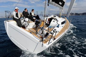 Segelyacht Dehler 38, vor Marseille/Frankreich