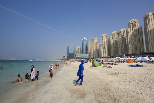 Marina Beach, Dubai Marina, Dubai, Vereinigte Arabische Emirate