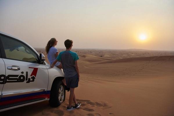 Sandduenen, Desert Safari, Dubai, Vereinigte Arabische Emirate