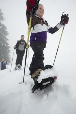 Schneeschuhwandern, Feuerberg, Skizentrum Gerlitzen, Kaernten, Oesterreich