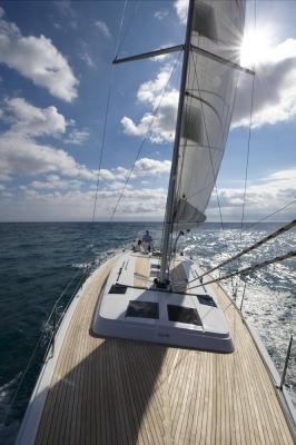 Segelyacht Hanse 445, Werft: Hanseyachts AG, Shooting: Mittelmeer bei Barcelona