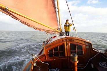 Plattbodenschiff, Wattenmeer,  Friesland, Holland