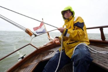Plattbodenschiff, Ijsselmeer, Friesland, Holland