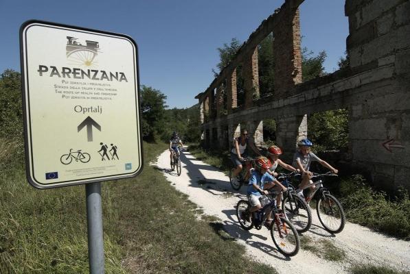 Fahrrad- und Wanderstrecke La Parrenza, Istrien, Kroatien