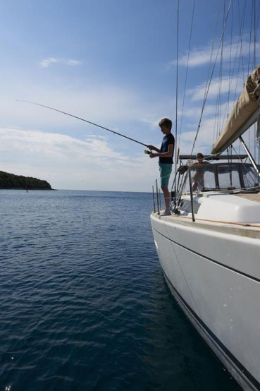 Ankerbucht Soline, Ausgang Limski-Fjord, Istrien, Kroatien