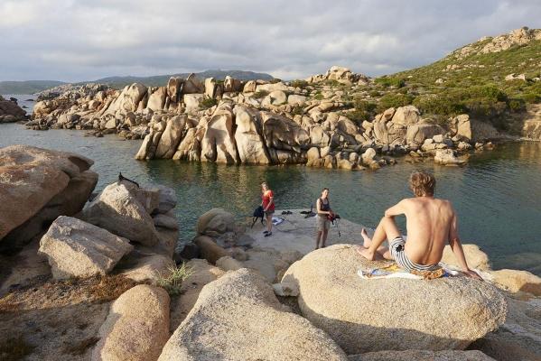 Bucht Scoglio Bianco, bei Campomoro, Westkueste Korsika, Frankreich