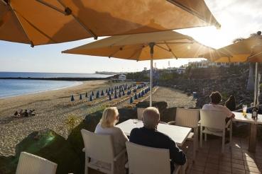 Playa Dorada, bei Ort Playa Blanca, neben Maina Rubicon, Suedkueste Lanzarote, Kanarische Inseln, Spanien