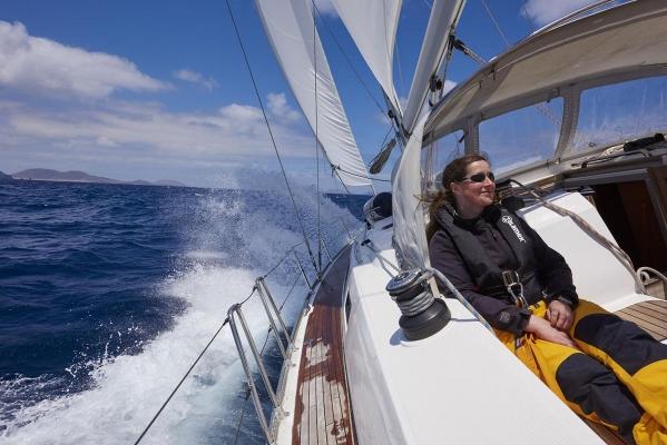 Segelboot,Typ: Bavaria 46 Cruiser, Segler, Cockpit, Atlantik, Atlantischer Ozean, Lanzarote, Kanarische Inseln, Spanien