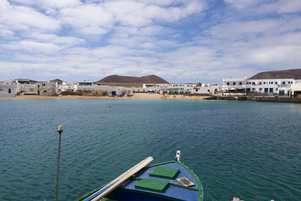 Insel La Graciosa, Insel vor Lanzarote, kleinste bewohnte Insel der Kanarischen Inseln, Spanien