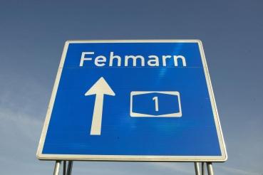 Autobahn A1 Richtung Insel Fehmarn, Schleswig-Holstein