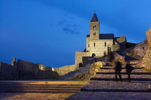 Ciesa San Pietro, Portovenere, Golfo di La Spezia, Riviera, Ligurien, Italien
