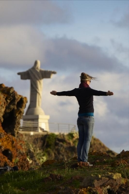Christusstatue Cristo Rei, Ort Garajau, Insel Madeira, Portugal