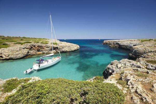 Bucht Cala petita, Mallorca, Balearen