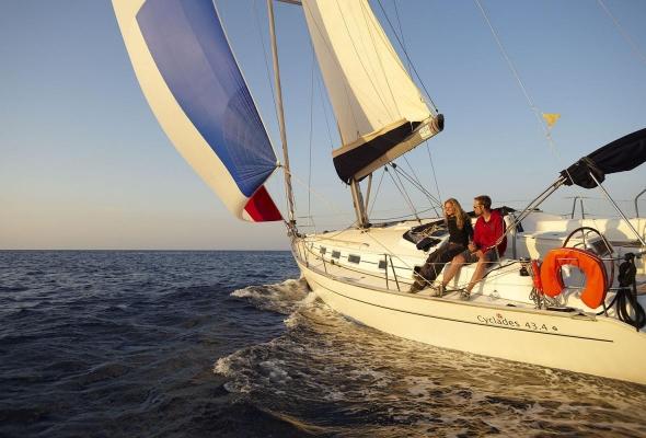 Segelimpression, Cap Formentor, Mallorca, Balearen