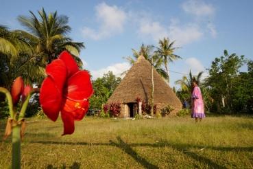 Tribe House, Bucht Baie de Jokin, Insel Lifou, Loyalitaetsinseln, Neukaledonien