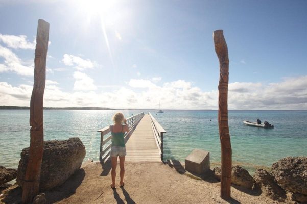 Bucht Baie de Chepenehe, Insel Lifou, Loyalitaetsinseln, Neukaledonien, Südpazifik, November 2010