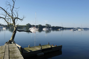 Ankerplatz Bucht Dyvig, bei Hafen Dyvig Bro, Insel Als, Daenemark, Ostsee