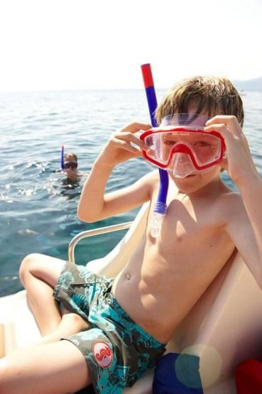 bei Stoupa, Messenischischer Golf,  Peloponnes, Griechenland, Sommer 2009, model released