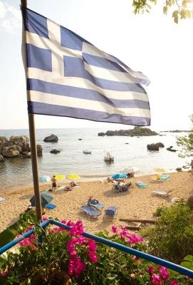 Strand von Stoupa, Messenischischer Golf,  Peloponnes, Griechenland, Sommer 2009