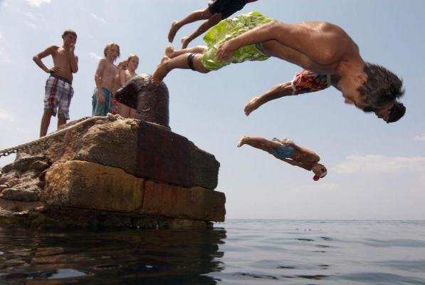 Stoupa, Peloponnes, Griechenland, Sommer 2009