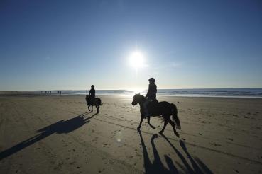 Strand, Westküeste bei Lakolk, Nordseeinsel Romo (Roemoe), Daenemark