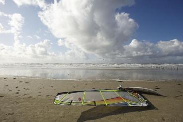 Windsurfer, Westkueste Nordseeinsel Romo (Roemoe), Daenemark