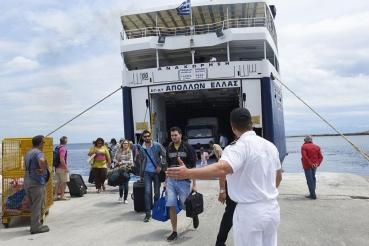 Hafenort Patitiri, Insel Alonnisos, noerdliche Sporaden, Griechenland