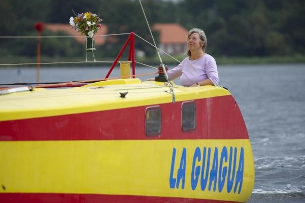 """SY """"La Guagua"""" in Lolland, Daenemark"""