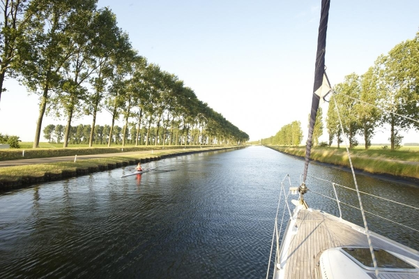 Kanal nach Goes, Goes, Provinz Zeeland, Holland