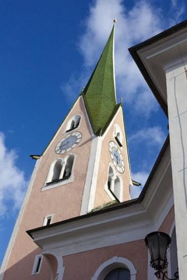 Kirche, Kirchturm, Ort Zell am Ziller, Zillertal, Tirol, Oesterreich