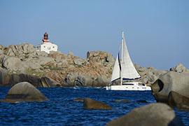 Cala di u Ghinuncu, Iles Lavezzi, Korsika, Frankreich