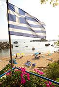 Strand von Stoupa, Peloponnes, Griechenland
